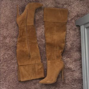 Shoes - Sexy Suede thigh high boots